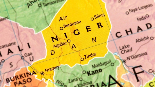 Map of Niger. A detail from the World Map.
