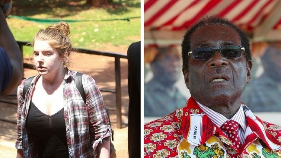 Martha O'Donovan, 25, was accused of insulting Zimbabwean President Robert Mugabe.