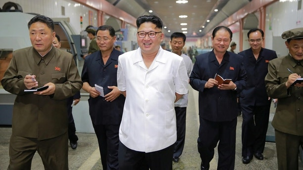 North Korean leader Kim Jong-Un inspects the January 18 General Machine Plant in Pyongyang, North Korea in this undated photo released by North Korea's Korean Central News Agency (KCNA) on August 10, 2016.    KCNA/via REUTERS   ATTENTION EDITORS - THIS PICTURE WAS PROVIDED BY A THIRD PARTY. NO THIRD PARTY SALES.  SOUTH KOREA OUT. NO COMMERCIAL OR EDITORIAL SALES IN SOUTH KOREA. - RC16D0BCB8B0
