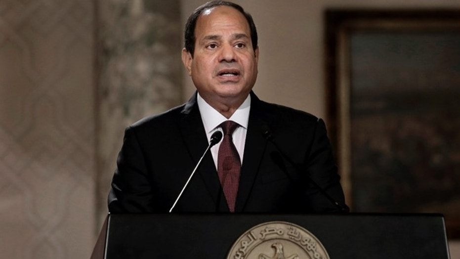 "Egyptian President Abdel-Fattah el-Sissi said Wednesday that Iran must stop ""meddling"" in the region's affairs and asking for dialogue so that the security of Arab Gulf countries is not be threatened."