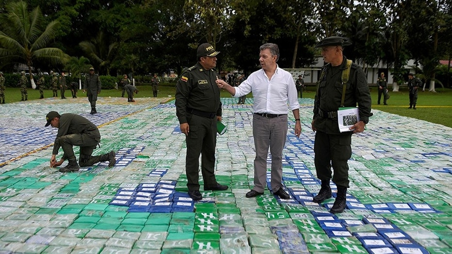 Colombian President Juan Manuel Santos said anti-narcotics officers seized 12 tones of cocaine worth an estimated $360 million.