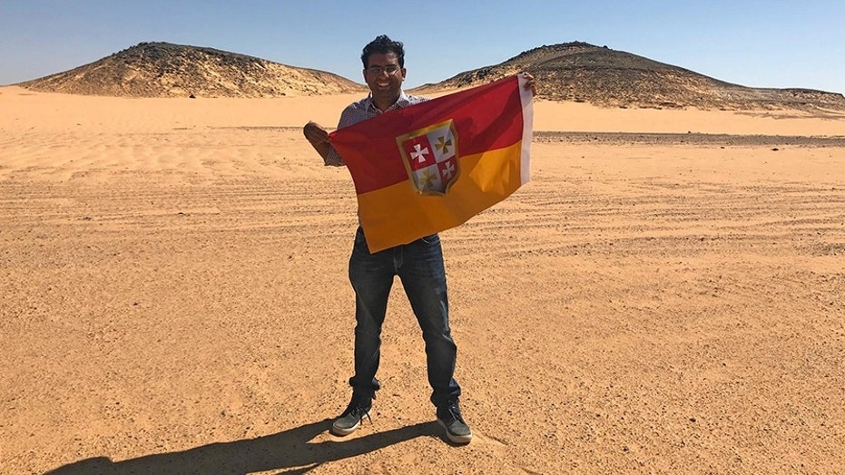 Suyash Dixit drove six hours to Bir Tawil to declare himself king of the unclaimed desert tract between Sudan and Egypt.