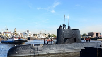 The Argentine military submarine ARA San Juan and crew are seen leaving the port of Buenos Aires, Argentina June 2, 2014. Picture taken on June 2, 2014. Armada Argentina/Handout via REUTERS ATTENTION EDITORS - THIS IMAGE WAS PROVIDED BY A THIRD PARTY. - RC1370ED5680