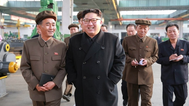 North Korean leader Kim Jong Un visits a factory in this undated picture provided by KCNA in Pyongyang on November 4, 2017. KCNA via Reuters ATTENTION EDITORS - THIS IMAGE WAS PROVIDED BY A THIRD PARTY. REUTERS IS UNABLE TO INDEPENDENTLY VERIFY THIS IMAGE. SOUTH KOREA OUT. NO THIRD PARTY SALES. NOT FOR USE BY REUTERS THIRD PARTY DISTRIBUTORS.Ê - RC113678A490