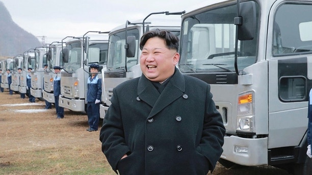 "In this undated photo provided on Tuesday, Nov. 21, 2017, by the North Korean government, North Korean leader Kim Jong Un visits the the Sungri Motor Complex in Pyeongannam-do, North Korea. The Trump administration is due to announce new sanctions on North Korea on Tuesday, Nov. 21, 2017, after declaring it a state sponsor of terrorism in the latest push to isolate the pariah nation. Independent journalists were not given access to cover the event depicted in this image distributed by the North Korean government. The content of this image is as provided and cannot be independently verified. Korean language watermark on image as provided by source reads: ""KCNA"" which is the abbreviation for Korean Central News Agency. (Korean Central News Agency/Korea News Service via AP)"