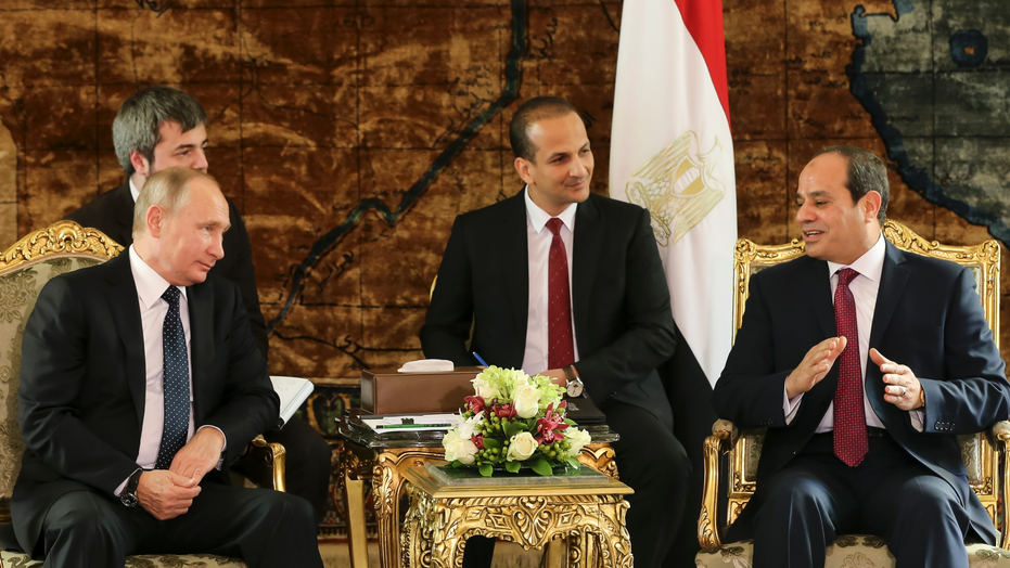 Putin In Egypt To Discuss Bilateral Ties, Middle East Situation