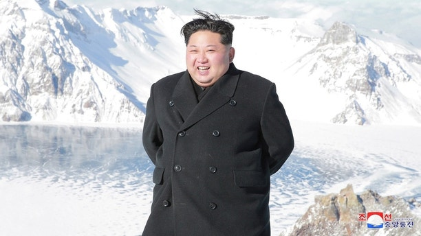 North Korean leader Kim Jong Un visits Mount Paektu in this photo released by North Korea's Korean Central News Agency (KCNA) in Pyongyang December 9, 2017.  KCNA/via REUTERS    ATTENTION EDITORS - THIS IMAGE WAS PROVIDED BY A THIRD PARTY. REUTERS IS UNABLE TO INDEPENDENTLY VERIFY THIS IMAGE. SOUTH KOREA OUT. NO THIRD PARTY SALES. NOT FOR USE BY REUTERS THIRD PARTY DISTRIBUTORS - RC13D48532B0