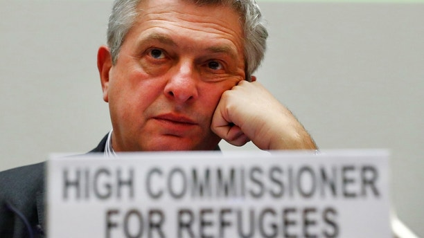 Filippo Grandi, High Commissioner for Refugees, attends the Pledging Conference for Rohingya Refugee Crisis in Bangladesh at the United Nations in Geneva, Switzerland October 23, 2017. REUTERS/Denis Balibouse - RC1359510620