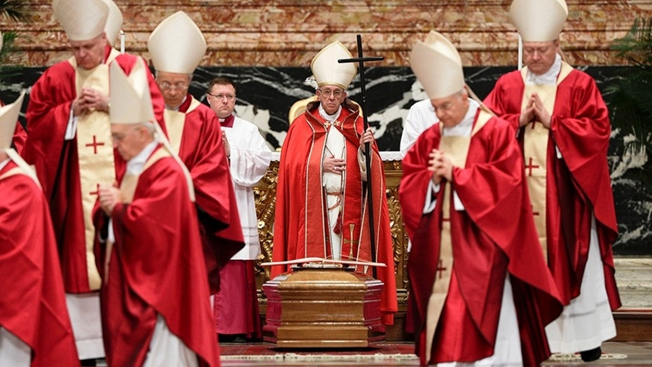 Image result for pope francis and catholic cardinals dressed in red