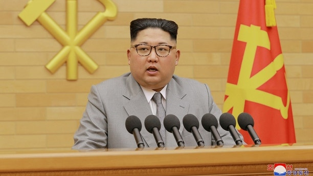 North Korea's leader Kim Jong Un speaks during a New Year's Day speech in this photo released by North Korea's Korean Central News Agency (KCNA) in Pyongyang on January 1, 2018. KCNA / via REUTERS ATTENTION EDITORS - THIS PICTURE WAS PROVIDED BY A THIRD PARTY. REUTERS IS UNABLE TO INDEPENDENTLY VERIFY THE AUTHENTICITY, CONTENT, LOCATION OR DATE OF THIS IMAGE. NO THIRD PARTY SALES. NOT FOR USE BY REUTERS THIRD PARTY DISTRIBUTORS. SOUTH KOREA OUT. TPX IMAGES OF THE DAY - RC11B0782E80