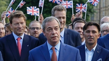 FILE- In this Friday, June 24, 2016 file photo, Nigel Farage, the leader of the UK Independence Party speaks to the media on College Green in London. Anti-EU British politician Farage said Thursday, Jan. 11, 2018 he might support a second referendum on Britain's European Union membership to kill off any prospect of staying in the bloc. (AP Photo/Matt Dunham, File)