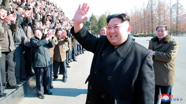 North Korean leader Kim Jong Un visits the national science centre in this photo released by North Korea's Korean Central News Agency (KCNA) in Pyongyang on January 12, 2018.   KCNA/via REUTERS. ATTENTION EDITORS - THIS PICTURE WAS PROVIDED BY A THIRD PARTY. REUTERS IS UNABLE TO INDEPENDENTLY VERIFY THE AUTHENTICITY, CONTENT, LOCATION OR DATE OF THIS IMAGE. NO THIRD PARTY SALES. SOUTH KOREA OUT. - RC1507AF24E0