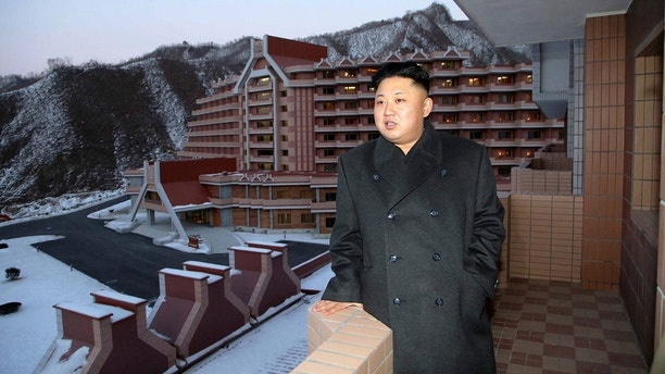 North Korean leader Kim Jong Un visits the Masik-Ryong Ski Resort, which is near completion, near Wonsan in this undated photo released by North Korea's Korean Central News Agency (KCNA) in Pyongyang December 15, 2013. REUTERS/KCNA (NORTH KOREA - Tags: POLITICS TRAVEL) ATTENTION EDITORS - THIS PICTURE WAS PROVIDED BY A THIRD PARTY. REUTERS IS UNABLE TO INDEPENDENTLY VERIFY THE AUTHENTICITY, CONTENT, LOCATION OR DATE OF THIS IMAGE. FOR EDITORIAL USE ONLY. NOT FOR SALE FOR MARKETING OR ADVERTISING CAMPAIGNS. THIS PICTURE IS DISTRIBUTED EXACTLY AS RECEIVED BY REUTERS, AS A SERVICE TO CLIENTS. NO THIRD PARTY SALES. NOT FOR USE BY REUTERS THIRD PARTY DISTRIBUTORS. SOUTH KOREA OUT. NO COMMERCIAL OR EDITORIAL SALES IN SOUTH KOREA - GM1E9CF14DS01
