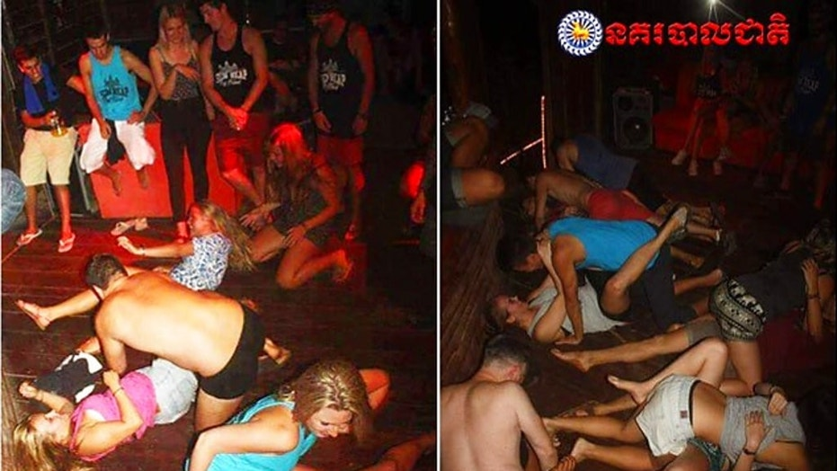 Five Britons arrested for 'pornographic dancing' in Cambodia