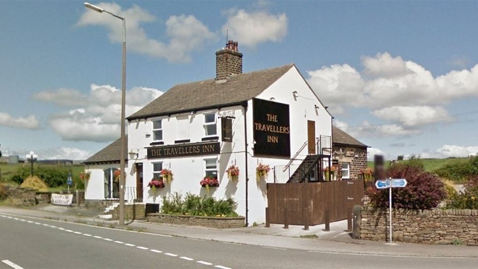 Owen Scott pleaded guilty to trying to kill four children by crashing his car outside this pub in Barnsley, England.