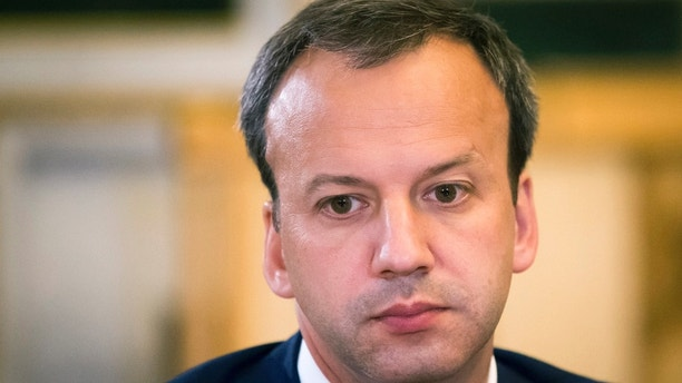 "FILE In this file photo taken on Thursday, June 18, 2015, Deputy Prime Minister Arkady Dvorkovich attends Russia - China talks at the St. Petersburg International Investment Forum in St.Petersburg, Russia. Dvorkovich has dismissed the Trump administration's list of Russian politicians and businessmen as simply a ""who's who"" of Russian politics. (AP Photo/Alexander Zemlianichenko, File )"
