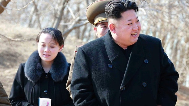 FILE - This 2015, file photo provided by the North Korean government shows North Korean leader Kim Jong Un and his sister Kim Yo Jong, left, during their visit to a military unit in North Korea. South Korea's Unification Ministry said North Korea informed Wednesday, Feb. 7, 2018, that Kim Yo Jong would be part of the high-level delegation coming to the South for the Pyeongchang Winter Olympics. Independent journalists were not given access to cover the event depicted in this image distributed by the North Korean government. The content of this image is as provided and cannot be independently verified. (Korean Central News Agency/Korea News Service via AP, File)
