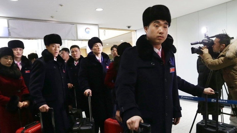 Kim impersonator a hit with North Korean cheerleaders