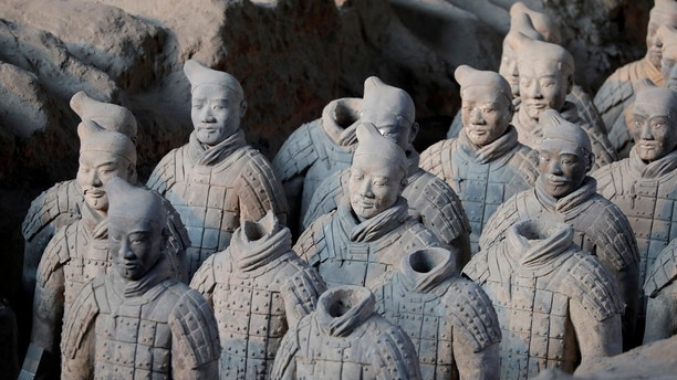 Terracotta warriors and horses, which were unearthed during the first excavation from 1978 to 1984, stand inside the No. 1 pit of the Museum of Qin Terracotta Warriors and Horses in Xian, Shaanxi province, in China, January 8, 2018.  REUTERS/Charles Platiau - RC1C0B535130