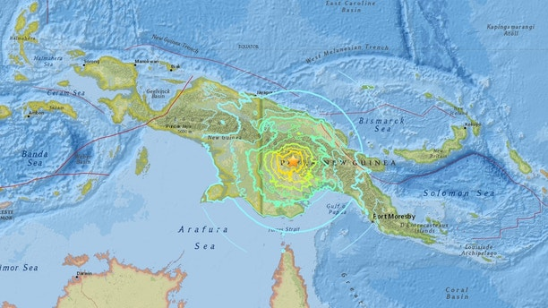 Natural disaster  of 7.5 magnitude strikes Papua New Guinea