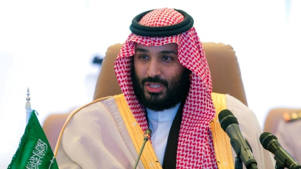FILE - In this Nov. 26, 2017 file photo released by the state-run Saudi Press Agency, Saudi Crown Prince Mohammed bin Salman speaks at a meeting of the Islamic Military Counterterrorism Alliance in Riyadh, Saudi Arabia.  Saudi billionaire Prince Alwaleed bin Talal was released on Saturday, Jan. 27, 2018,  from the luxury hotel where he has been held since November, according to three of his associates, marking the end of a chapter in a wide-reaching anti-corruption probe that has been shrouded in secrecy and intrigue. The prince, 62, had been the most well-known and prominent detainee held at the Ritz-Carlton hotel in the Saudi capital, Riyadh, since Nov. 4, when his much younger cousin, Crown Prince Mohammed bin Salman, ordered the surprise raids against prominent princes, businessmen, ministers and military officers.(Saudi Press Agency via AP)