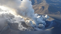 An aerial view shows Shinmoedake peak erupting between Miyazaki and Kagoshima prefectures, southwestern Japan, in this photo taken by Kyodo March 6, 2018.  Mandatory credit Kyodo/via REUTERS ATTENTION EDITORS - THIS IMAGE WAS PROVIDED BY A THIRD PARTY. MANDATORY CREDIT. JAPAN OUT. NO COMMERCIAL OR EDITORIAL SALES IN JAPAN. - RC1D3BCFEF80