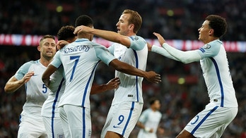 Soccer Football - 2018 World Cup Qualifications - Europe - England vs Slovakia - London, Britain - September 4, 2017   England's Marcus Rashford celebrates scoring their second goal with team mates    Action Images via Reuters/John Sibley - RC1CB6C03200