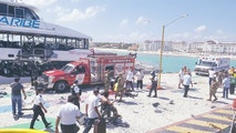 The scene of an explosion is seen at Playa del Carmen, Quintana Roo, Mexico February 21, 2018 in this picture obtained from social media. COURTESY of TIFFANY COFFMAN/via REUTERS THIS IMAGE HAS BEEN SUPPLIED BY A THIRD PARTY. MANDATORY CREDIT. NO RESALES. NO ARCHIVES - RC1C9B1EAD00
