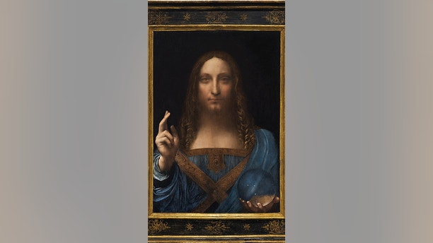 """Salvator Mundi,"" an ethereal portrait of Jesus Christ which dates to about 1500, the last privately owned Leonardo da Vinci painting, is on display for the media at Christie's auction in New York, NY, U.S., October 10, 2017. Courtesy Christie's New York/Handout via REUTERS ATTENTION EDITORS - THIS IMAGE HAS BEEN SUPPLIED BY A THIRD PARTY. FOR EDITORIAL USE ONLY. NO RESALES. NO ARCHIVES - RC1C678BDF50"