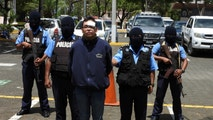 Members of the National Police escort Orlando Tercero, 22, arrested after a request by U.S. authorities in connection with the murder of a New York student, in Managua, in this handout photograph released to Reuters by the Nicaragua National Police March 14, 2018. Nicaragua National Police/Handout via REUTERS   ATTENTION EDITORS - THIS IMAGE WAS PROVIDED BY A THIRD PARTY - RC1A3ECB9D80