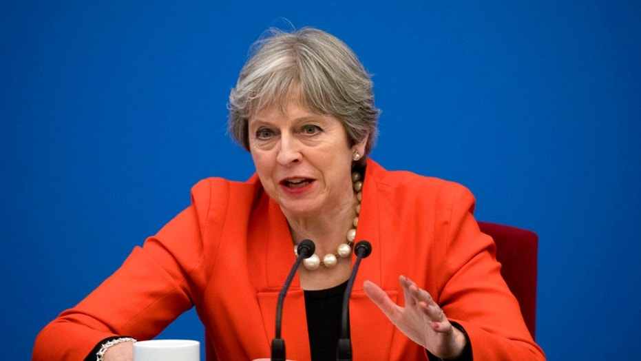 British Prime Minister Theresa May is seen above.