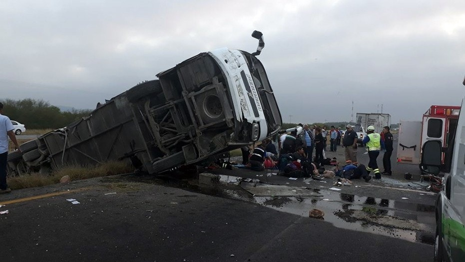 One person was killed and several others were injured when a bus originating from Texas crashed in Mexico, authorities said Tuesday.