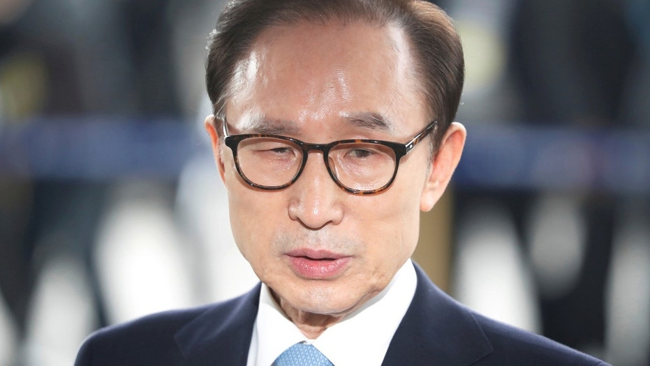 Former South Korean President Lee Myung-bak charged with corruption