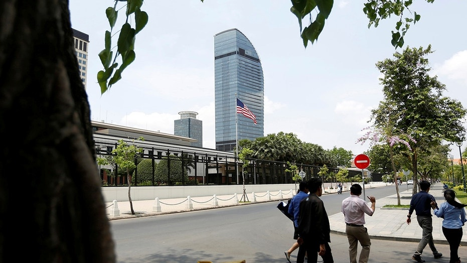 At least 32 employees at the U.S. Embassy in Cambodia were fired for allegedly sharing pornographic material.