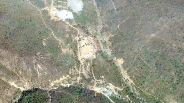 A satellite photo of the Punggye-Ri nuclear test site in North Korea May 14, 2018.     Planet Labs Inc/Handout via REUTERS ATTENTION EDITORS - THIS IMAGE HAS BEEN SUPPLIED BY A THIRD PARTY. NO RESALES. NO ARCHIVES. - RC163E197390