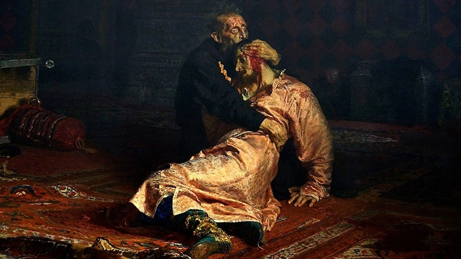 """The painting, named """"Ivan the Terrible and His Son Ivan on November 16, 1581,"""" was vandalized on Saturday by a man who was reported to be in a vodka-fueled rampage."""