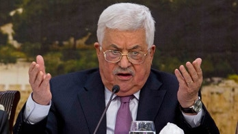 File - In this Jan. 14, 2018, file photo, Palestinian President Mahmoud Abbas speaks during a meeting with the Palestinian Central Council in the West Bank city of Ramallah. Saeb Erekat, a top aide said Monday, May 21, 2018, that Palestinian President Mahmoud Abbas is alert and making a swift recovery after being hospitalized with a fever over the weekend and should be released within days. (AP Photo/Majdi Mohammed, File)