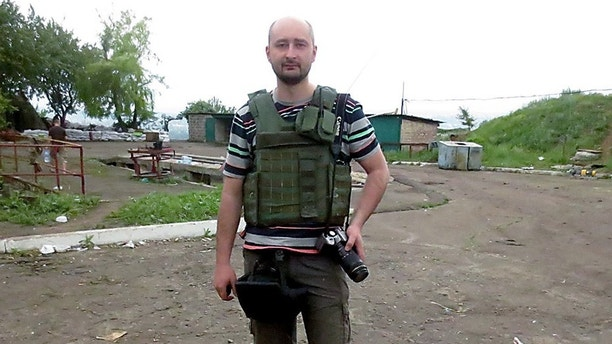 Arkady Babchenko's wife reportedly told authorities she believed he was shot because of his professional work