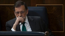 Spain's Prime Minister and Popular Party leader Mariano Rajoy listens to speeches during the first day of a motion of no confidence session at the Spanish parliament in Madrid, Thursday, May 31, 2018. The lower house of the Spanish parliament is debating whether to end Prime Minister Mariano Rajoy's close to eight years in power and supplant him with the leader of the Socialist opposition. (AP Photo/Francisco Seco)