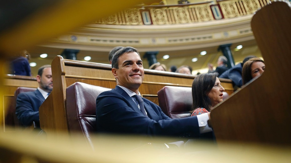 Spain's socialist opposition leader Pedro Sanchez was sworn in as the new prime minister after a vote of no-confidence against Mariano Rajoy.