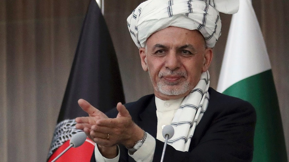 In this Feb. 23, 2018, file photo, Afghanistan's President Ashraf Ghani speaks during the integration ceremony of TAPI pipeline in Herat city, west of Kabul, Afghanistan. The Afghan Taliban have announced a three-day cease-fire over the Eid al-Fitr holiday at the end of the holy month of Ramadan, a first for the group, following an earlier cease-fire announcement by the government. Ghani on Thursday, June 7, 2018 announced a weeklong cease-fire with the Taliban to coincide with the holiday.