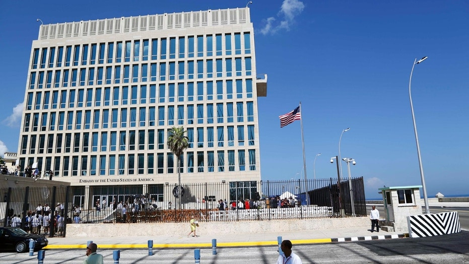 The U.S. Embassy in Havana, Cuba.