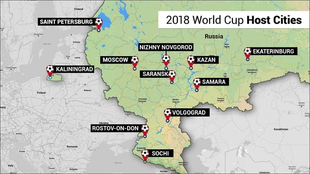 world cup stadiums map