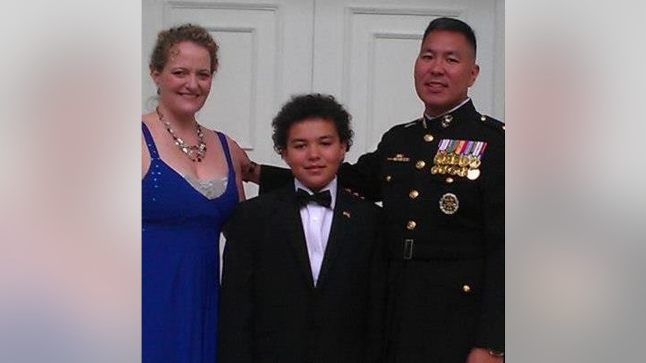 U.S. Marine Corps Maj. George Anikow, right, who was killed in 2012, is seen in an image from his family's Facebook page.