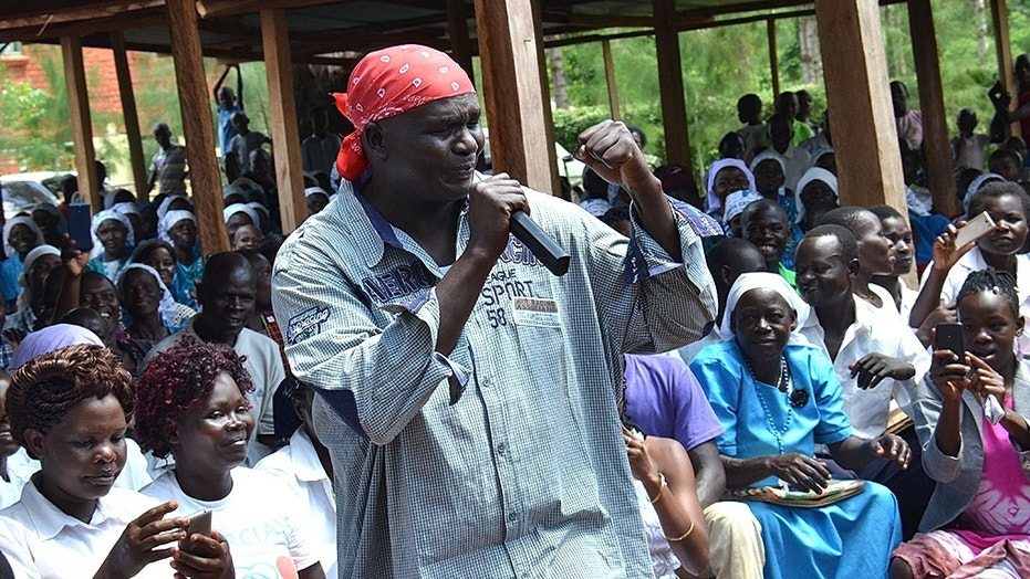 """Father """"Sweet Paul"""" Ogallo has been suspended by the Catholic Church in Kenya for rapping during Mass sermons."""