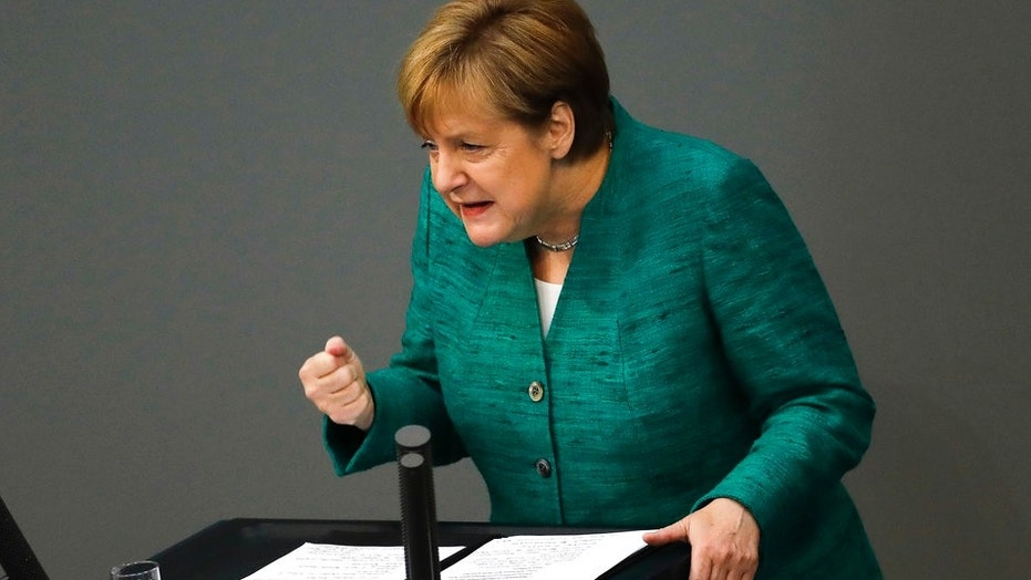 Angela Merkel delivered an impassioned speech to the Bundestag ahead of a crucial EU summit about the migrant crisis
