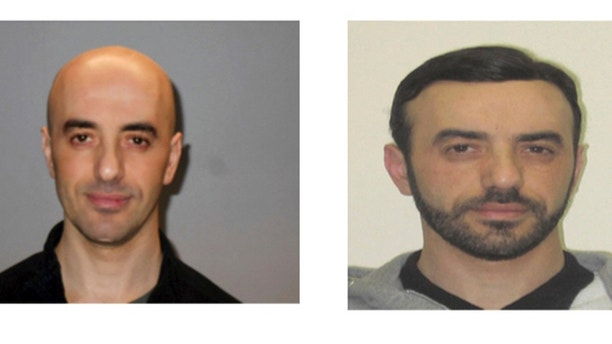 This two photos combo provided on Monday, July 2, 2010 by the AP on the condition that its source not be revealed shows portraits of notorious French criminal Redoine Faid who is wanted in connection with his escape from the Reau prison in France. Faid serving 25 years for murder made an audacious escape from prison Sunday after a helicopter carrying several heavily armed commandos landed in a courtyard, freed him from a visiting room and carried him away. (AP Photo)