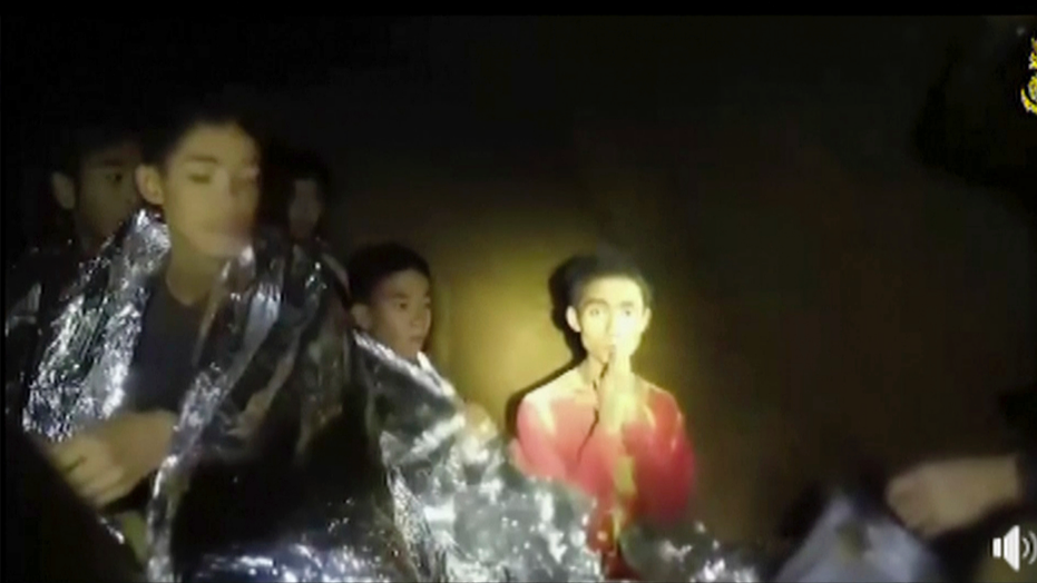Thai soccer team trapped in cave