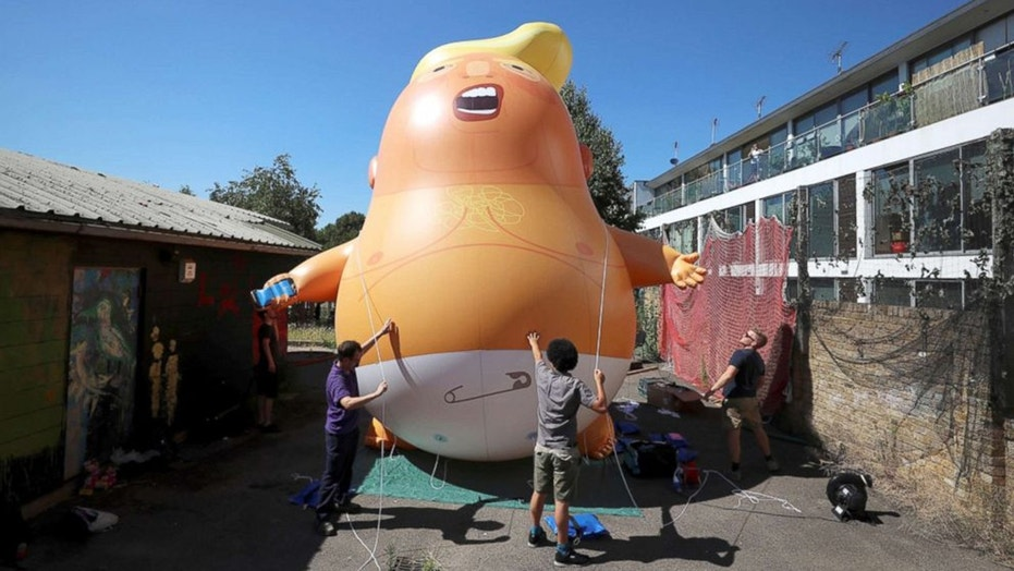 """The """"Trump baby"""" blimp was given the green light to fly over London during President Trump's U.K. trip next Friday."""