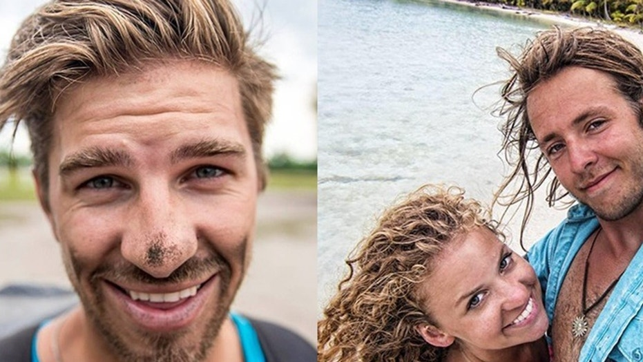 Ryker Gamble (left), Megan Scraper and Alexy Lyakh (together right) died after going over Shannon Falls in Canada.